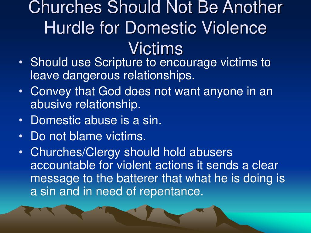 Churches Should Not Be Another Hurdle for Domestic Violence Victims