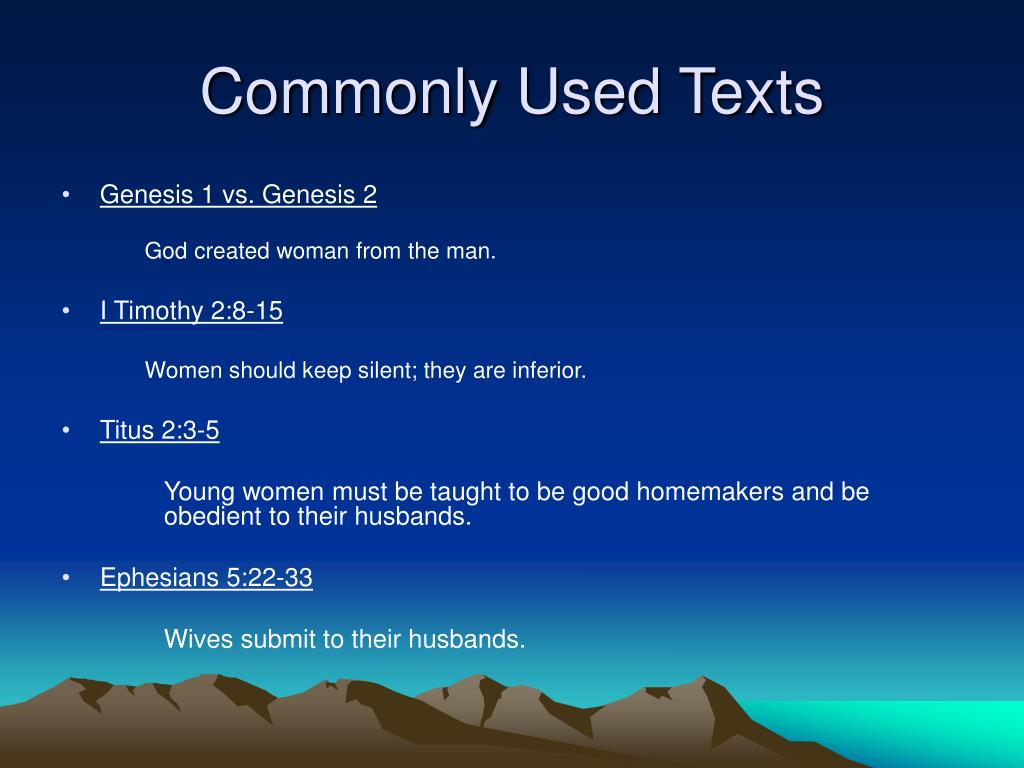 Commonly Used Texts