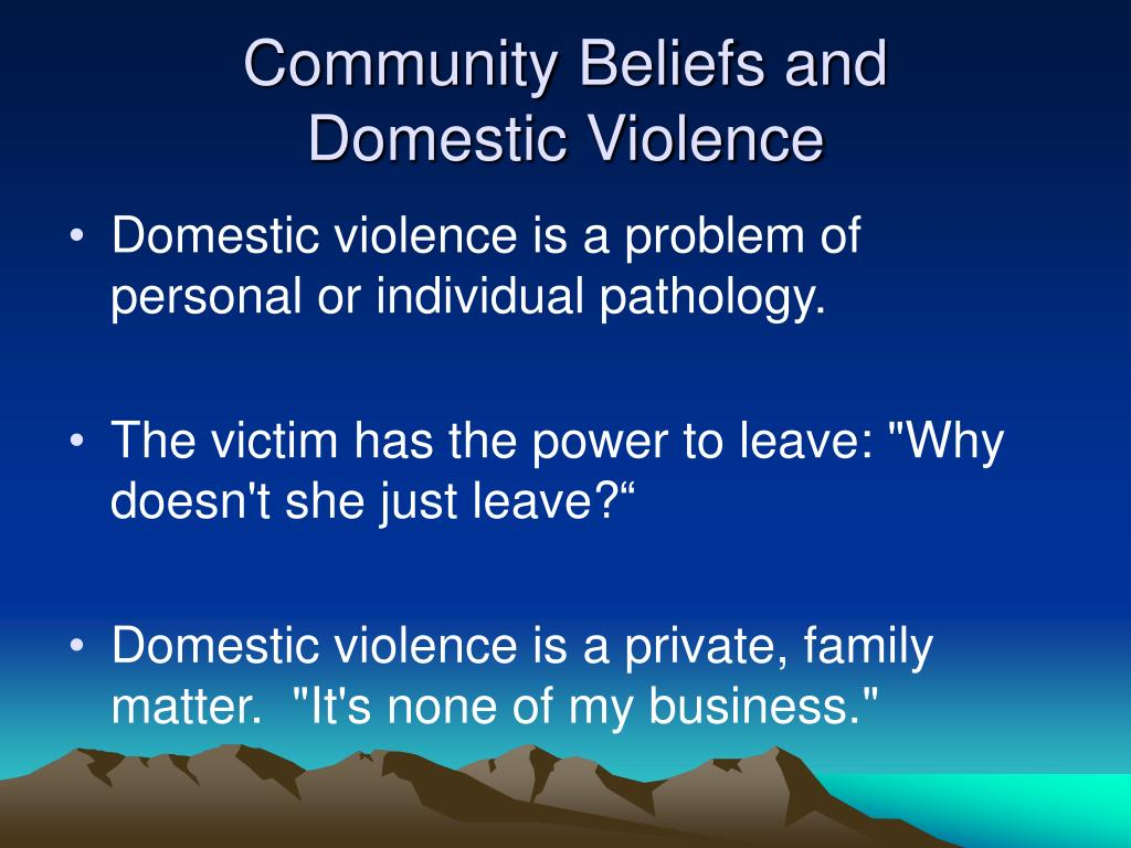 Community Beliefs and