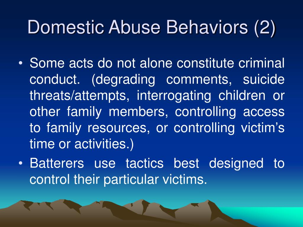 Domestic Abuse Behaviors (2)