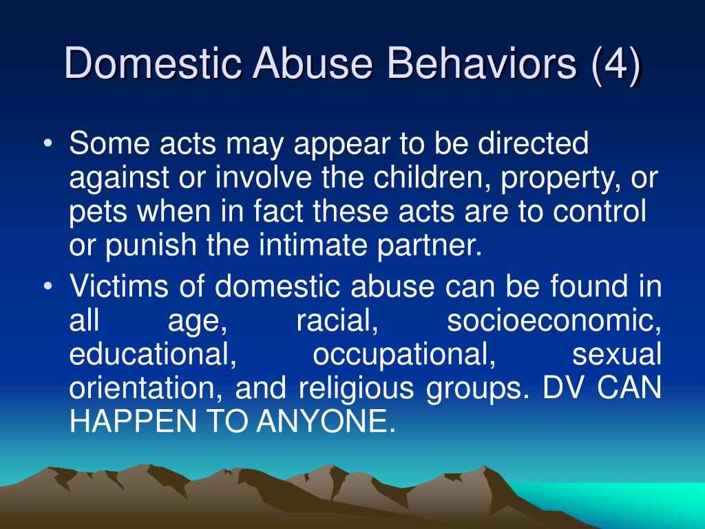 Domestic Abuse Behaviors (4)