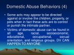 domestic abuse behaviors 4