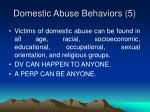 domestic abuse behaviors 5