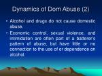 dynamics of dom abuse 2