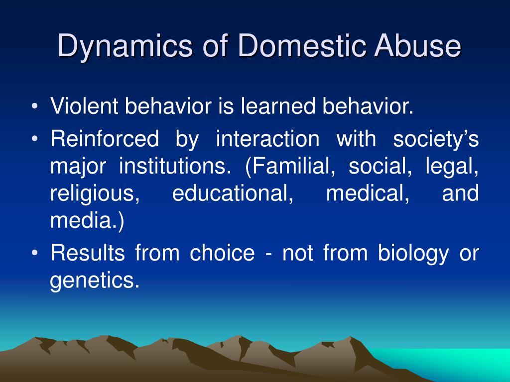 Dynamics of Domestic Abuse