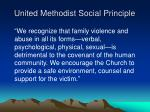 united methodist social principle