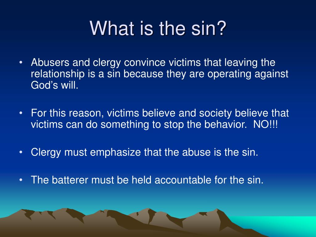 What is the sin?