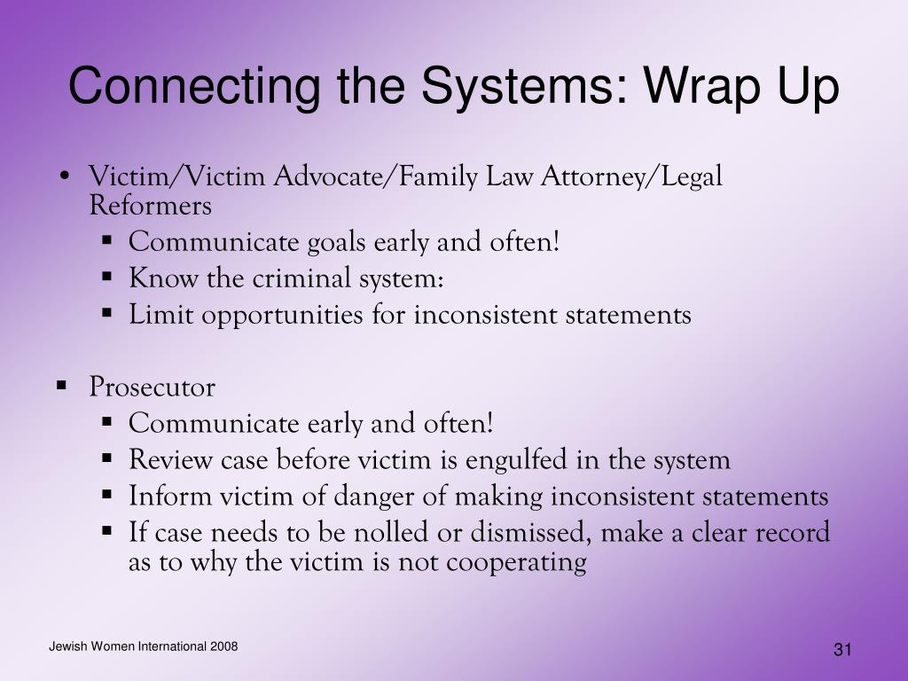 Connecting the Systems: Wrap Up