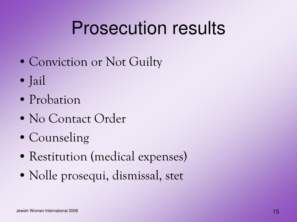 Prosecution results