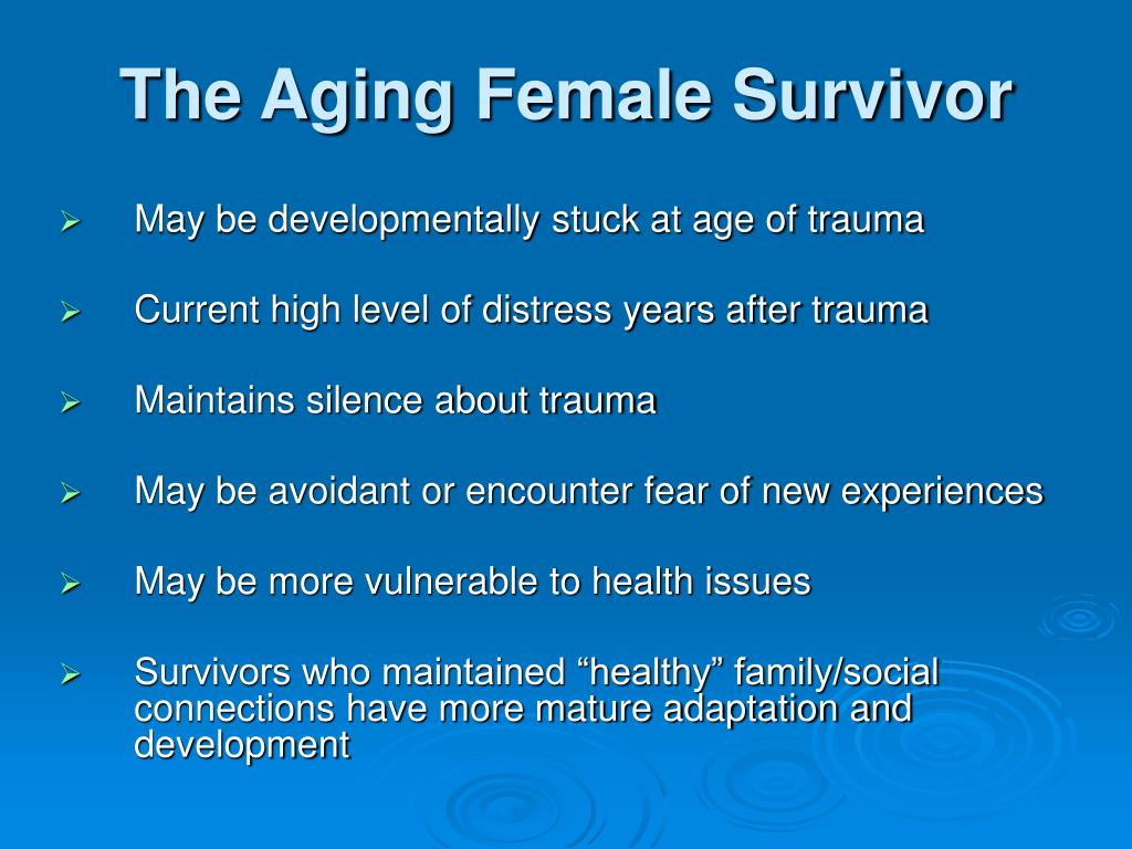 The Aging Female Survivor