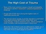 the high cost of trauma