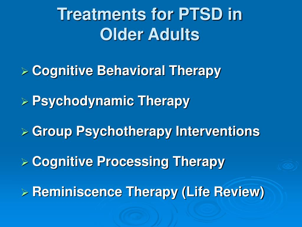Treatments for PTSD in