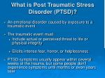 what is post traumatic stress disorder ptsd