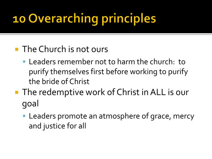 10 Overarching