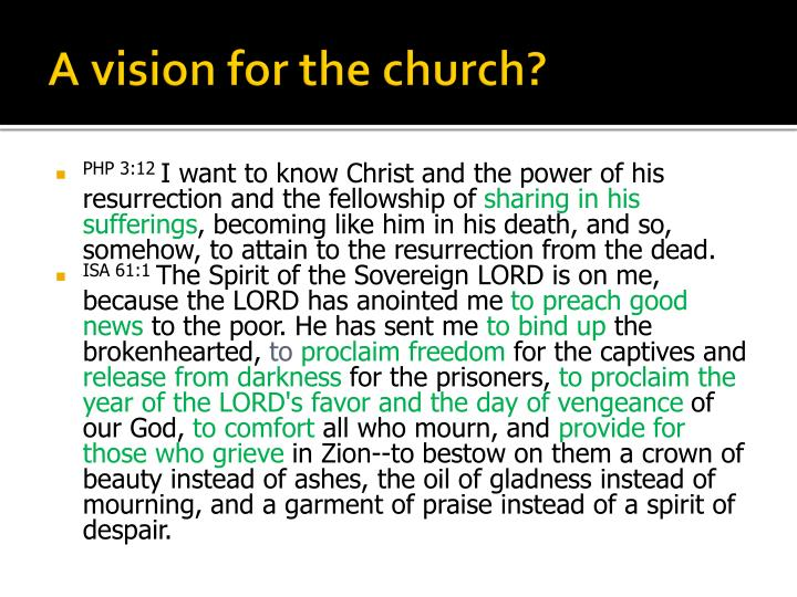 A vision for the church?