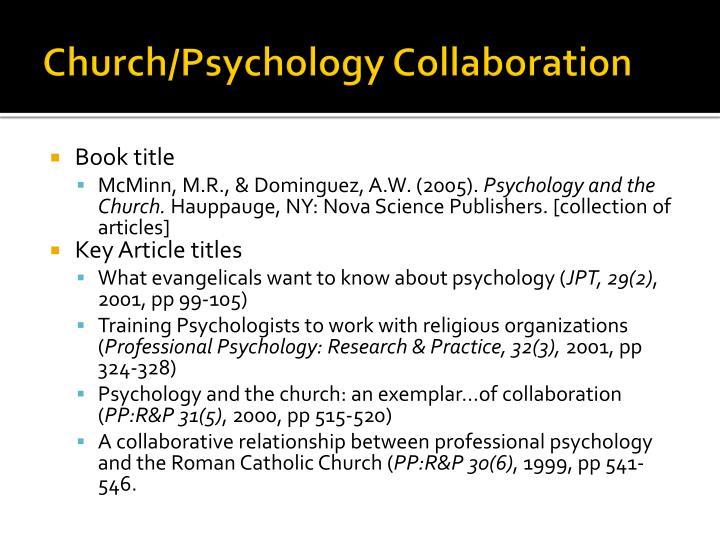Church/Psychology Collaboration
