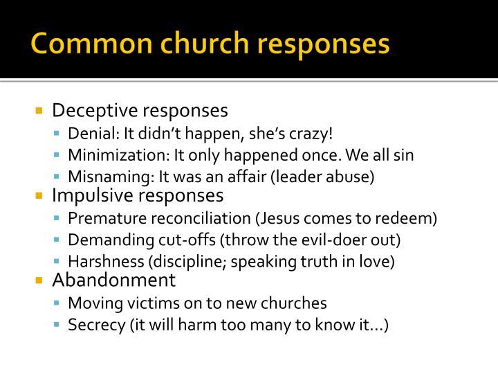 Common church responses