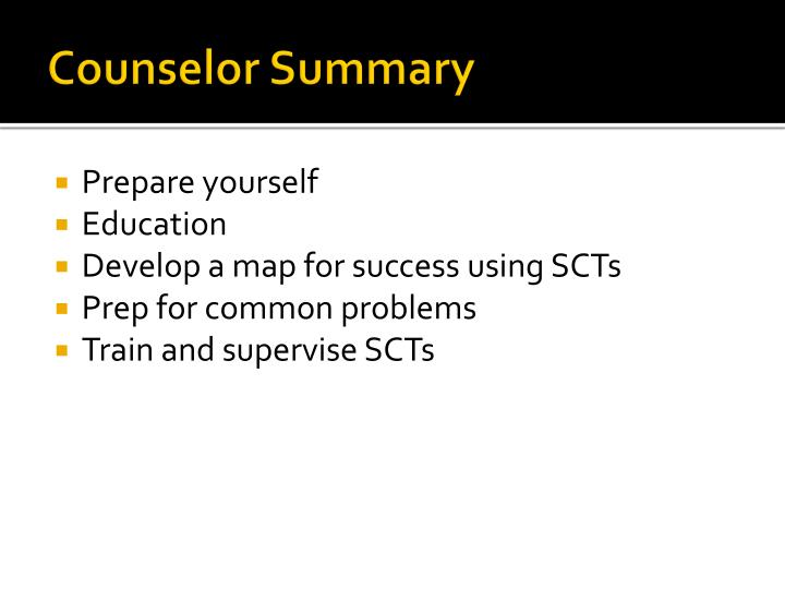 Counselor Summary