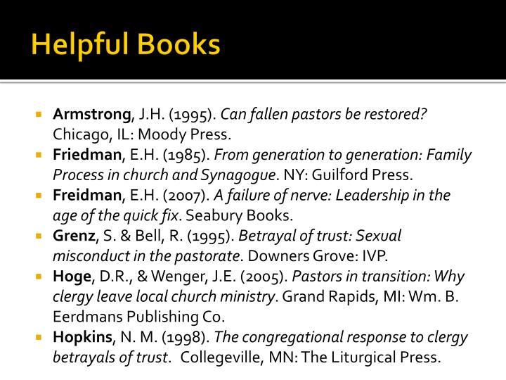 Helpful Books