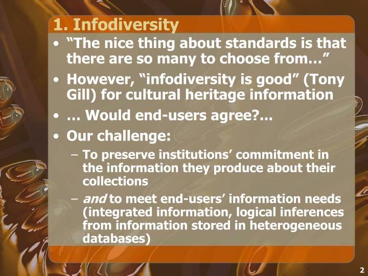 1. Infodiversity