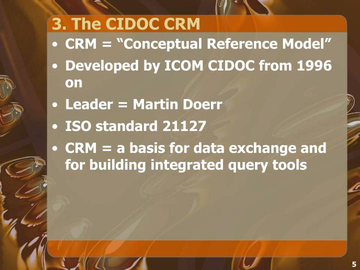 3. The CIDOC CRM