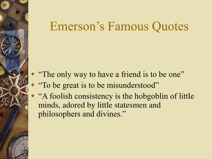 Emerson s famous quotes