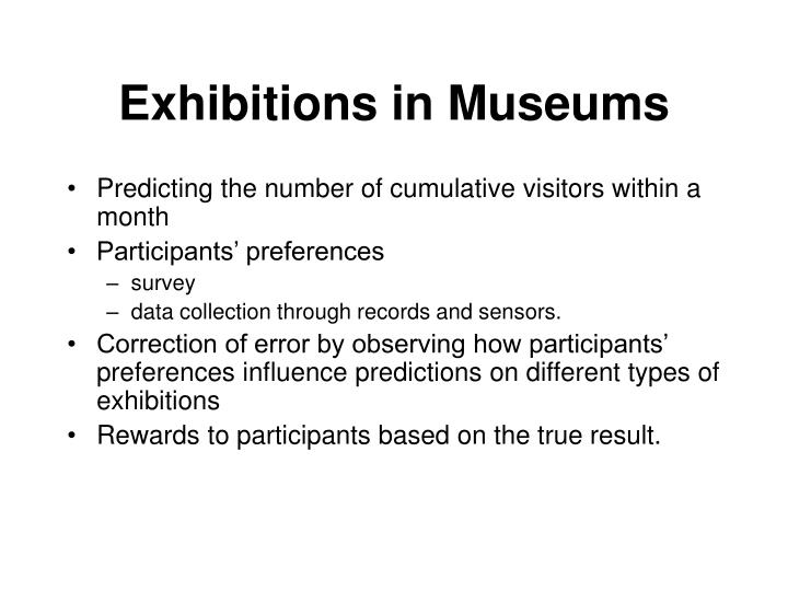 Exhibitions in Museums