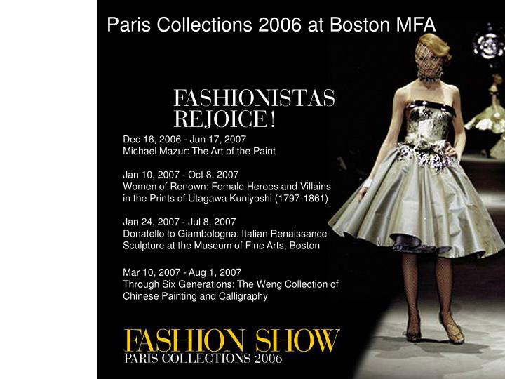 Paris Collections 2006 at Boston MFA