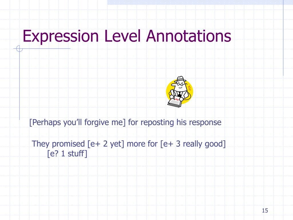 Expression Level Annotations