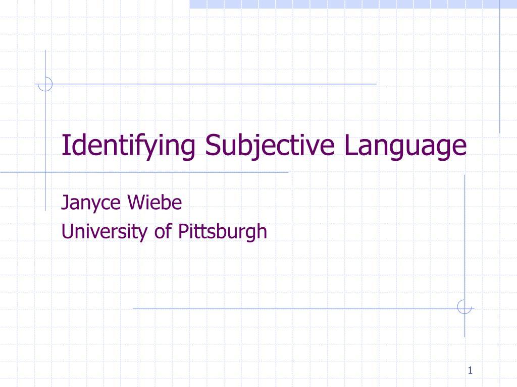 identifying subjective language