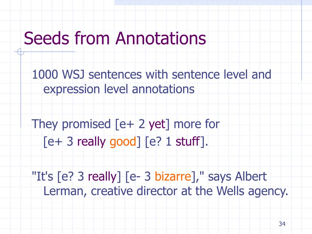 Seeds from Annotations