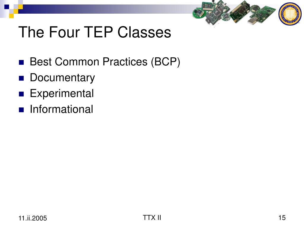 The Four TEP Classes