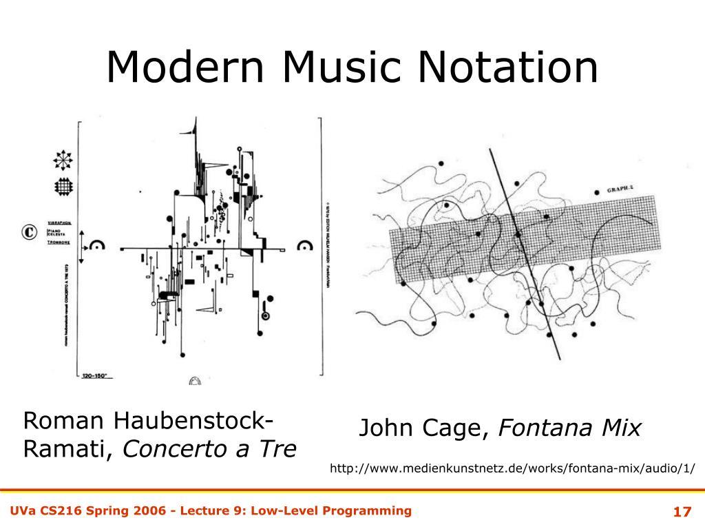 Modern Music Notation