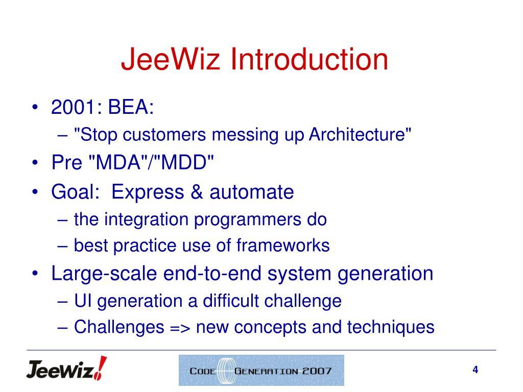 JeeWiz Introduction