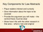 key components for law abstracts