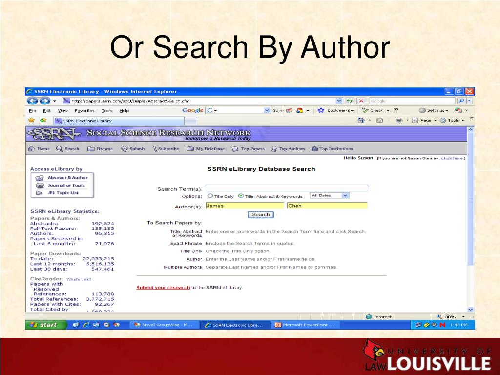 Or Search By Author