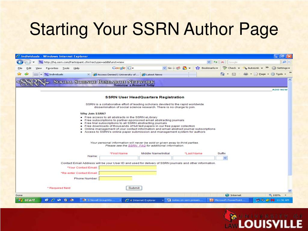 Starting Your SSRN Author Page