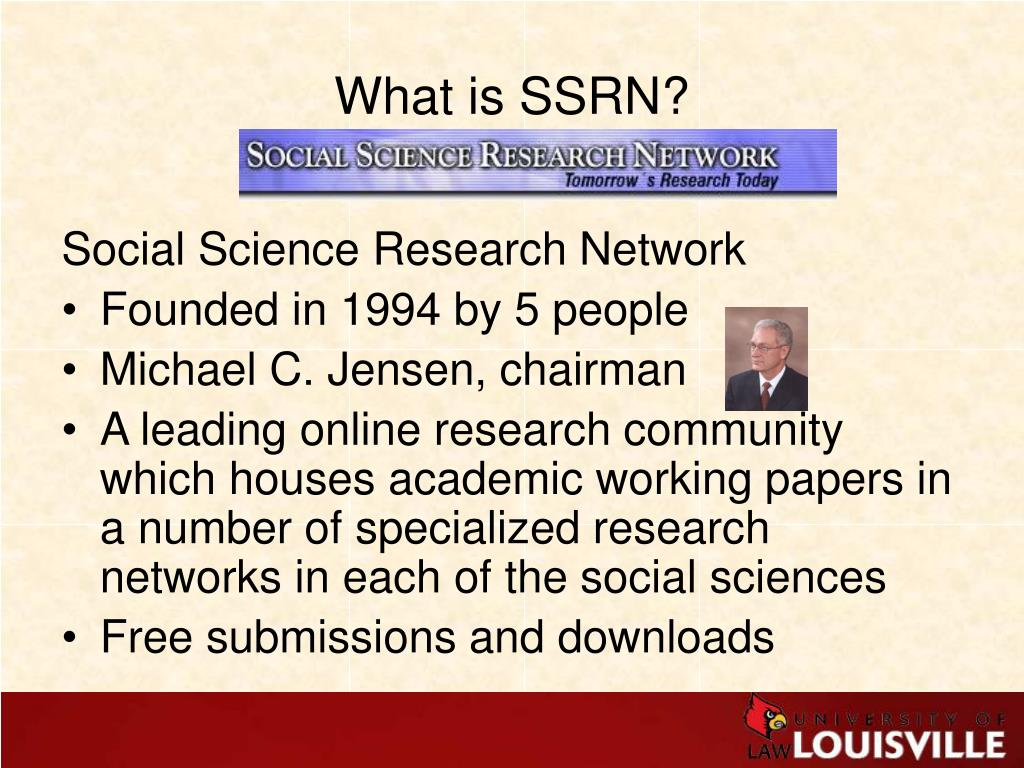 What is SSRN?