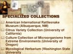 specialized collections