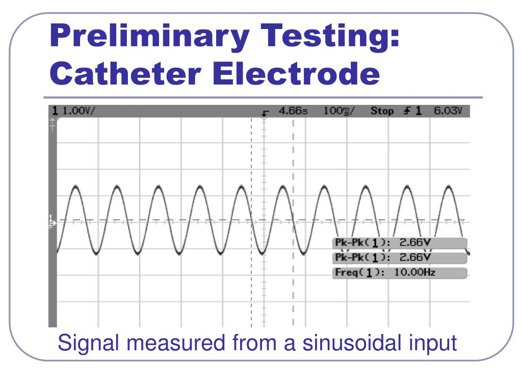 Preliminary Testing: Catheter Electrode