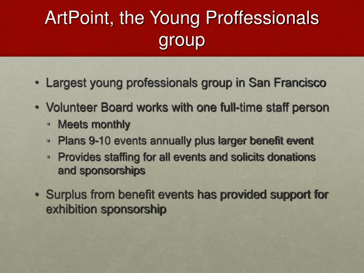 ArtPoint, the Young Proffessionals group