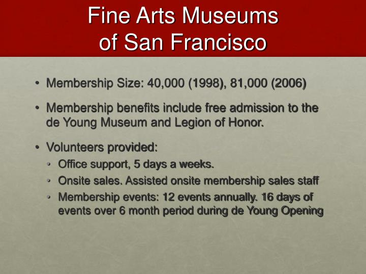 Fine Arts Museums