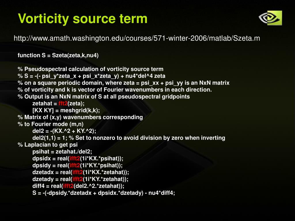 Vorticity source term