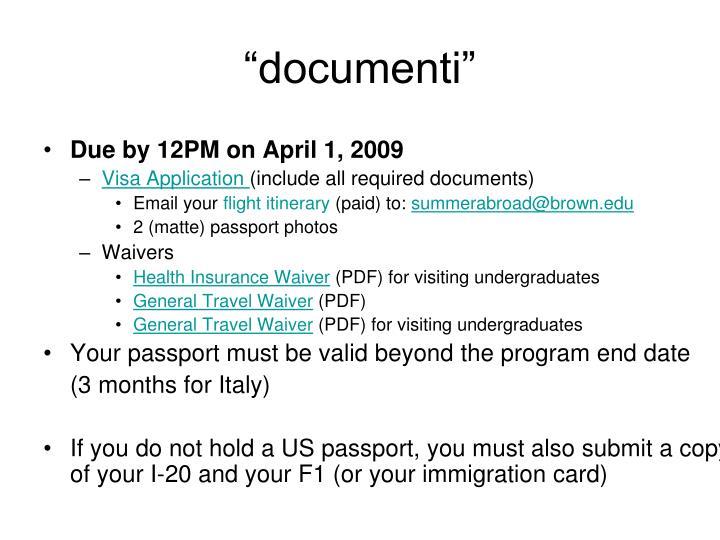 """""""documenti"""""""