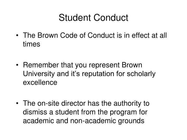 Student Conduct