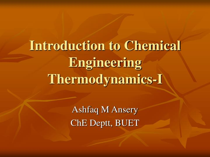 Introduction to chemical engineering thermodynamics i l.jpg