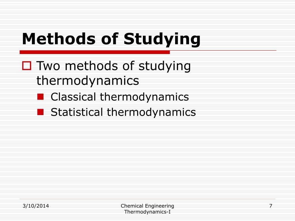 Methods of Studying