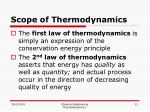 scope of thermodynamics11