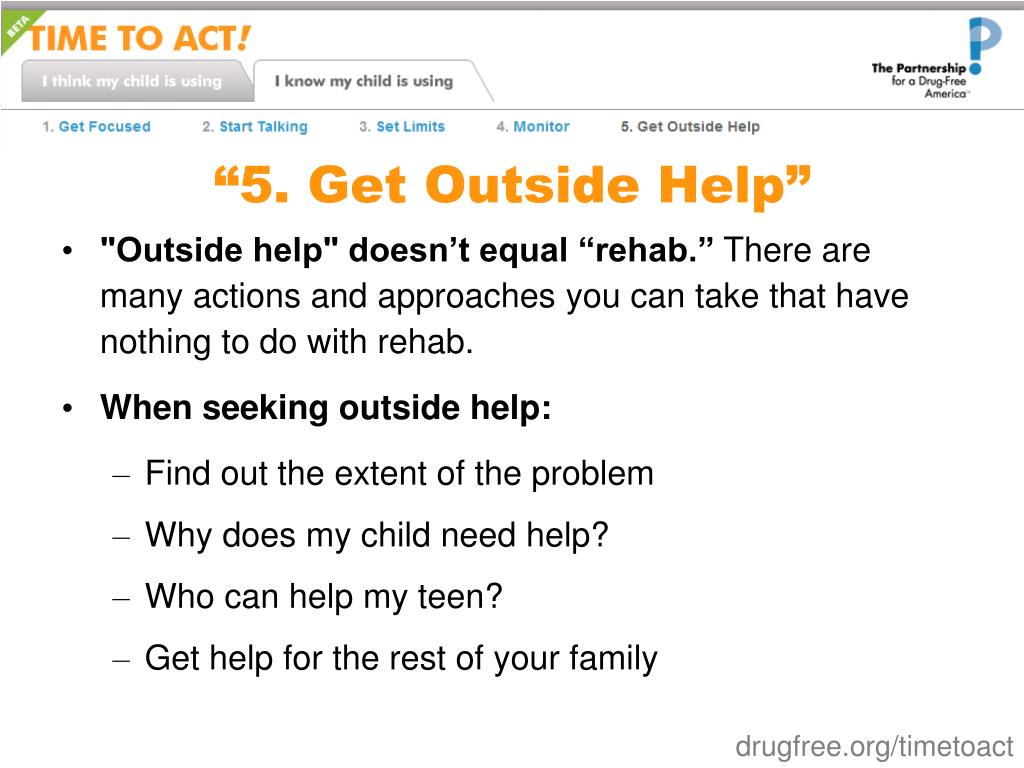 """5. Get Outside Help"""