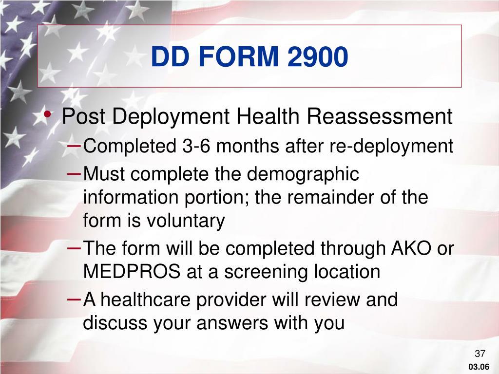 DD FORM 2900